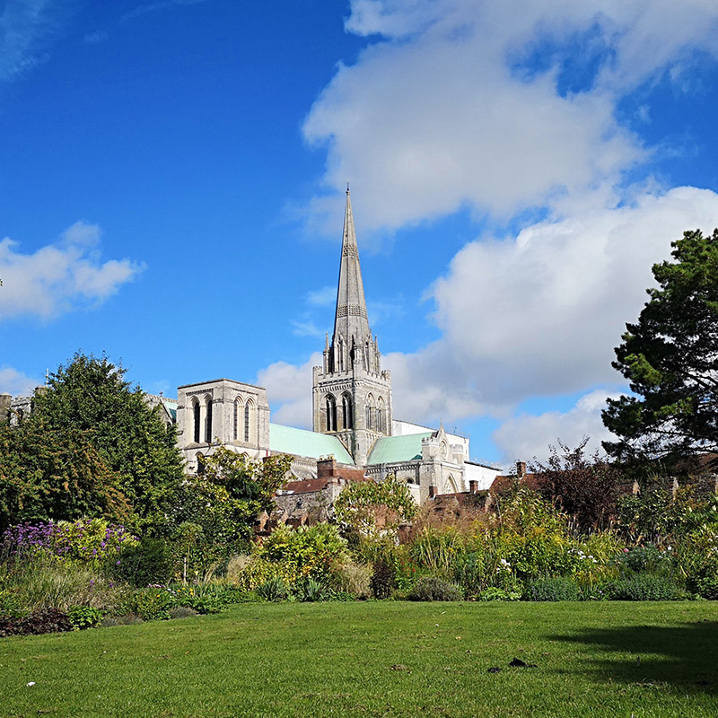 The Chichester cathedral which is located close to The Summer Berry Company's Colworth Farm